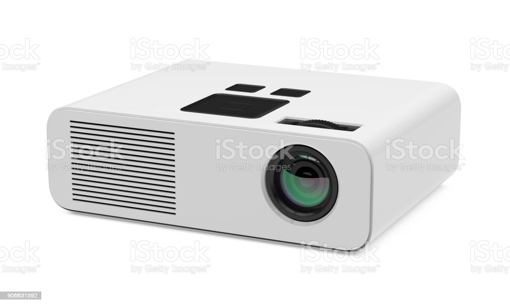 Multimedia Projector Isolated stock photo