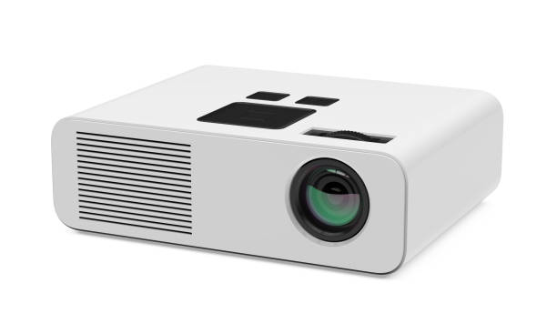 multimedia projector isolated - projection equipment stock pictures, royalty-free photos & images
