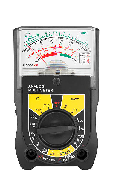 Multimeter Isolated with Path stock photo