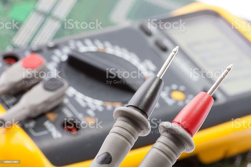 Multimetr working stock photo