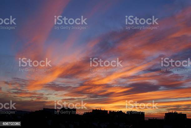 Photo of multiolor,glorious sunset