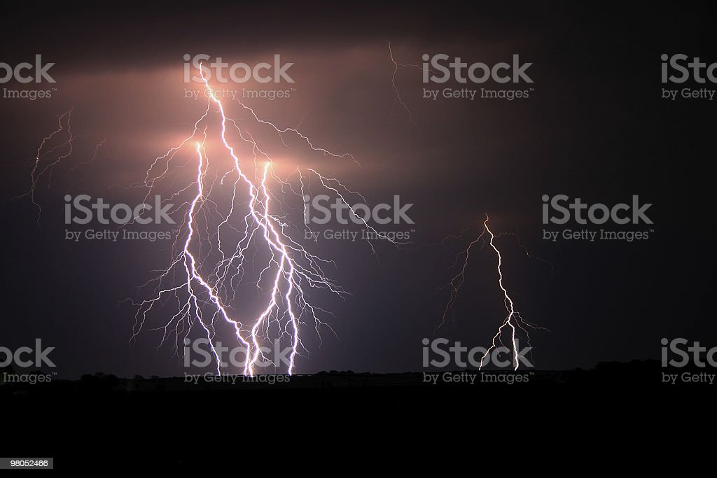 Multipal Bolts of Lightning royalty-free stock photo