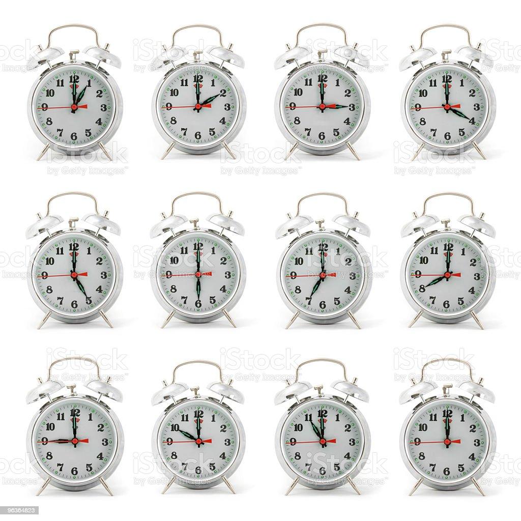 Multiple Alarm Clocks stock photo