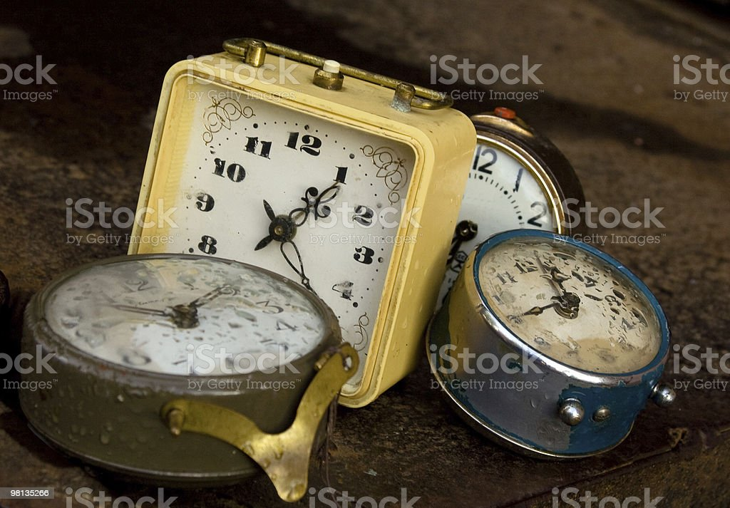 Multiple alarms royalty-free stock photo