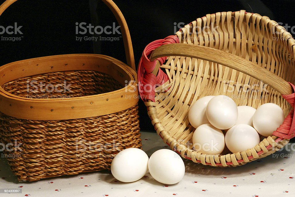 multiple baskets royalty-free stock photo