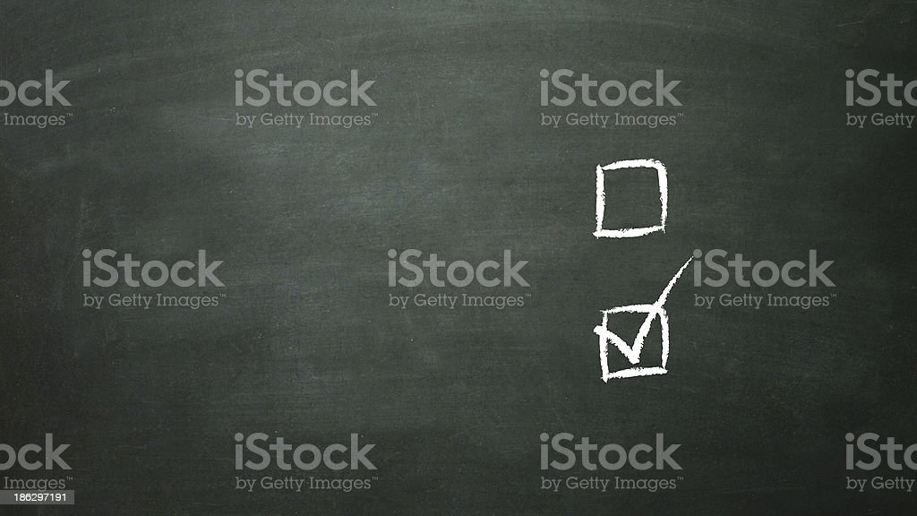 multiple choice selection b royalty-free stock photo