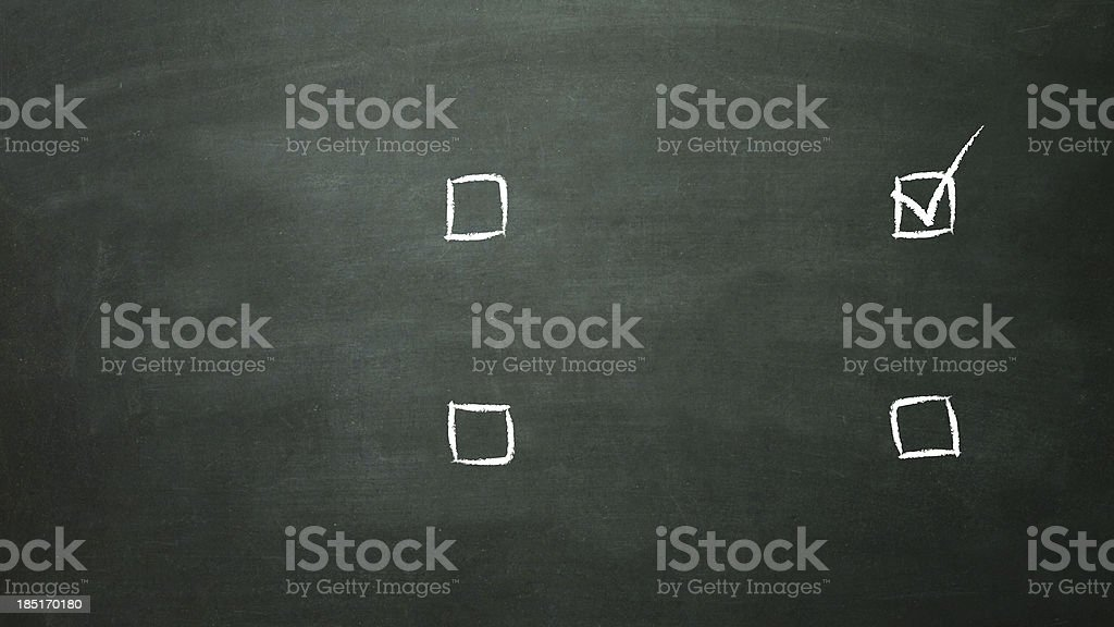 multiple choice selection of 4c royalty-free stock photo