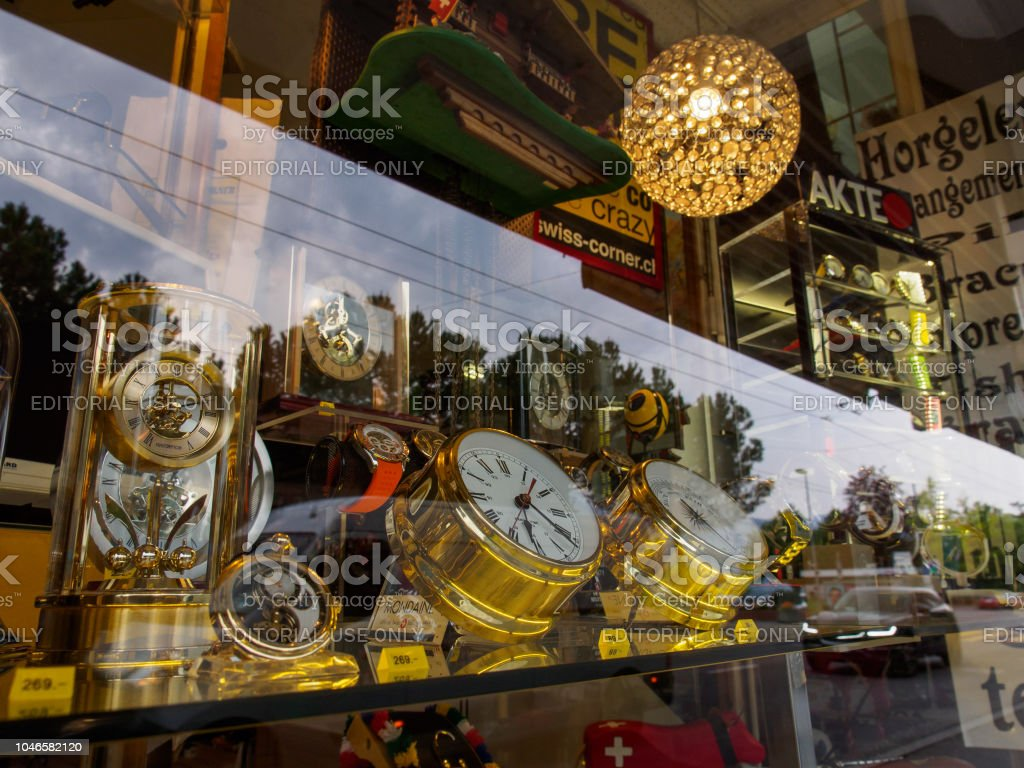 Store display of Swiss Clocks