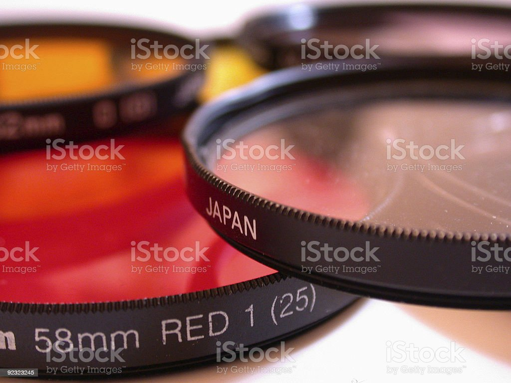 Multiple colors of film photography filters royalty-free stock photo