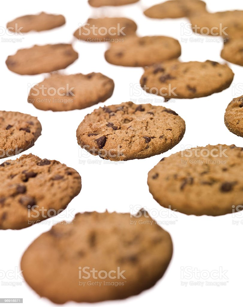 Multiple cookies royalty-free stock photo