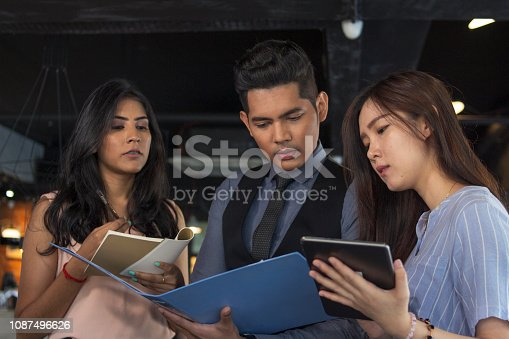 Ethnicity, asian, malaysian, adult, business, discussion, meeting, business person, finance and economy