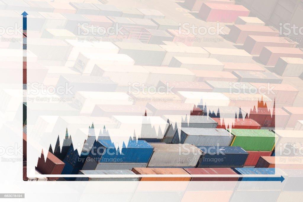 multiple exposure business chart zbiór zdjęć royalty-free