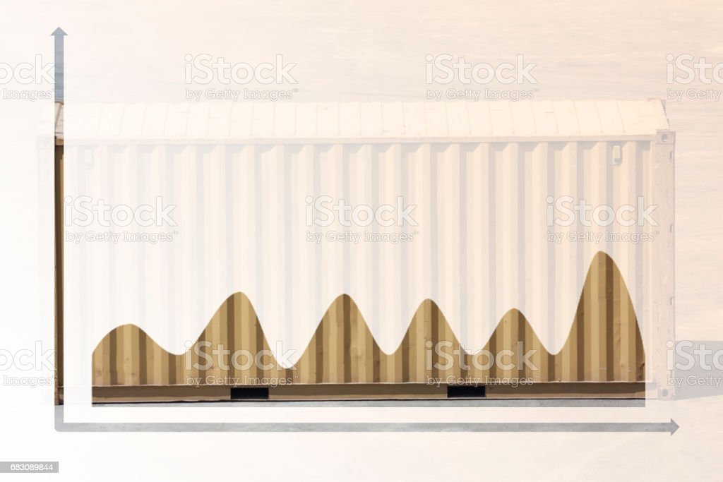 multiple exposure business chart foto de stock royalty-free