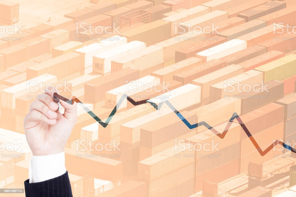 multiple exposure business chart 免版稅 stock photo