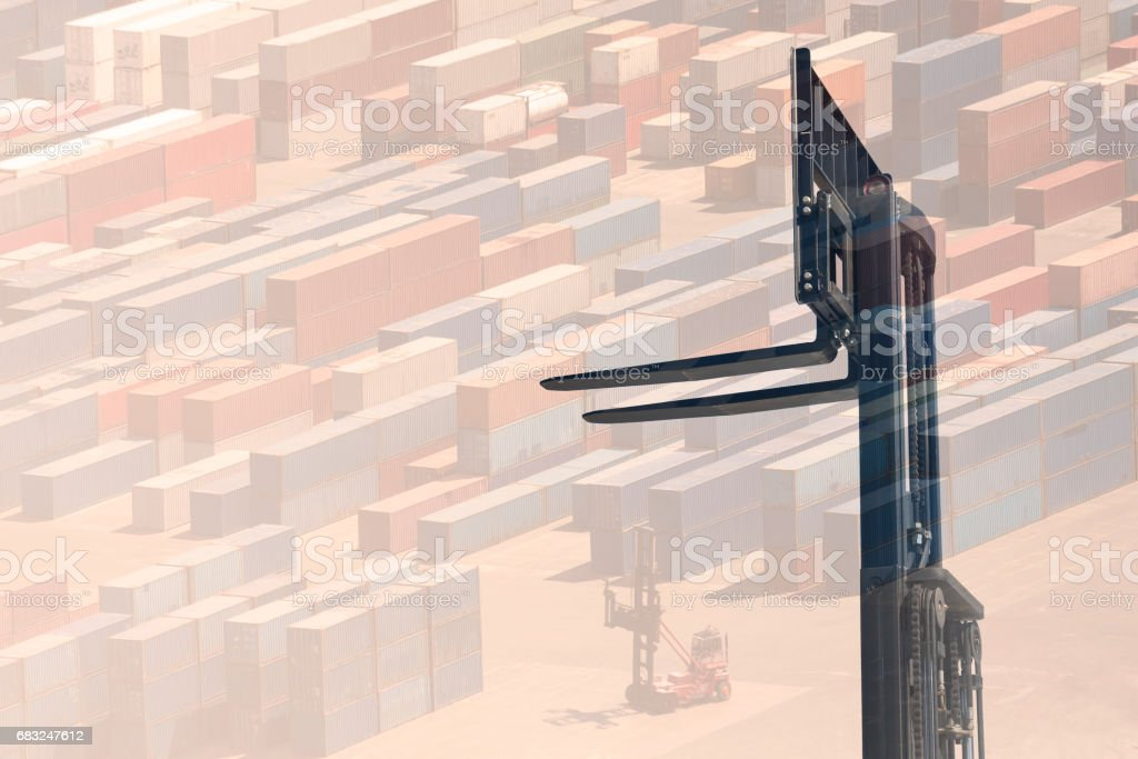 multiple exposure forklift royalty-free 스톡 사진