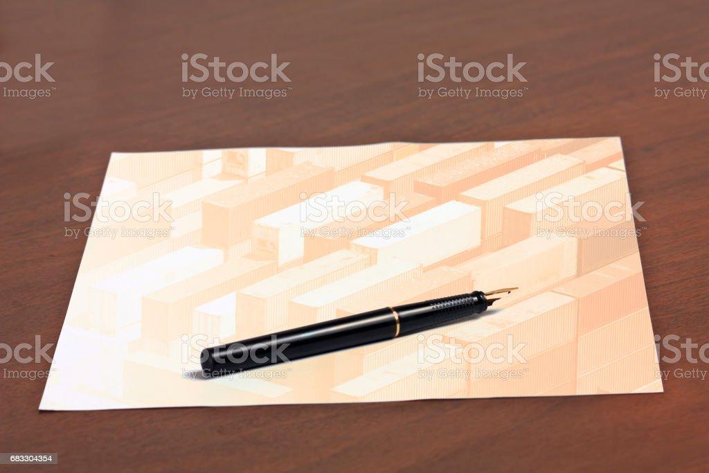 multiple exposure paper on desk royaltyfri bildbanksbilder