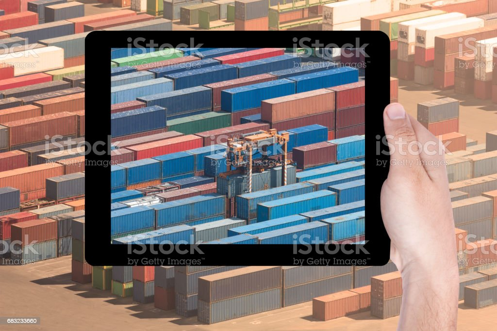multiple exposure tablet royalty-free stock photo