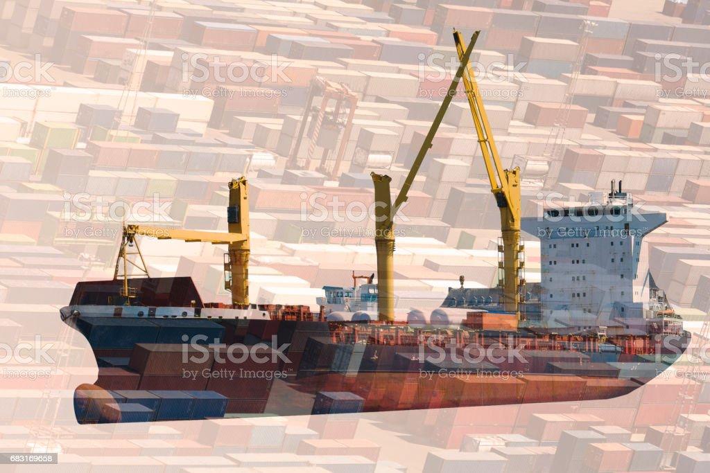 multiple exposure transportation 免版稅 stock photo