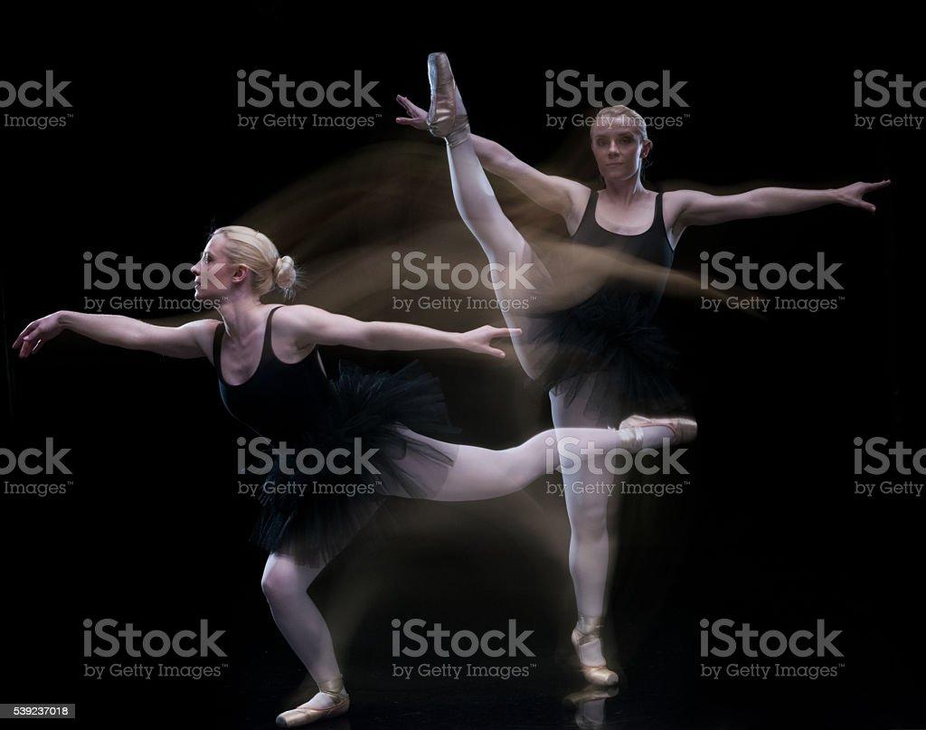 Exposição múltipla-mulher ballet dança foto royalty-free