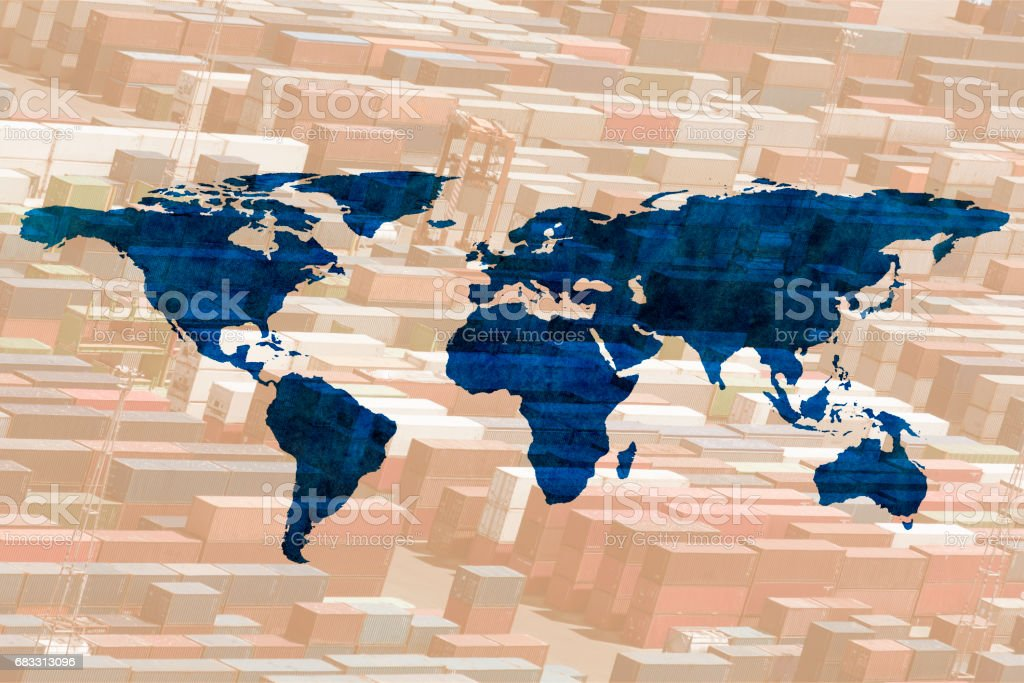 multiple exposure world map foto stock royalty-free