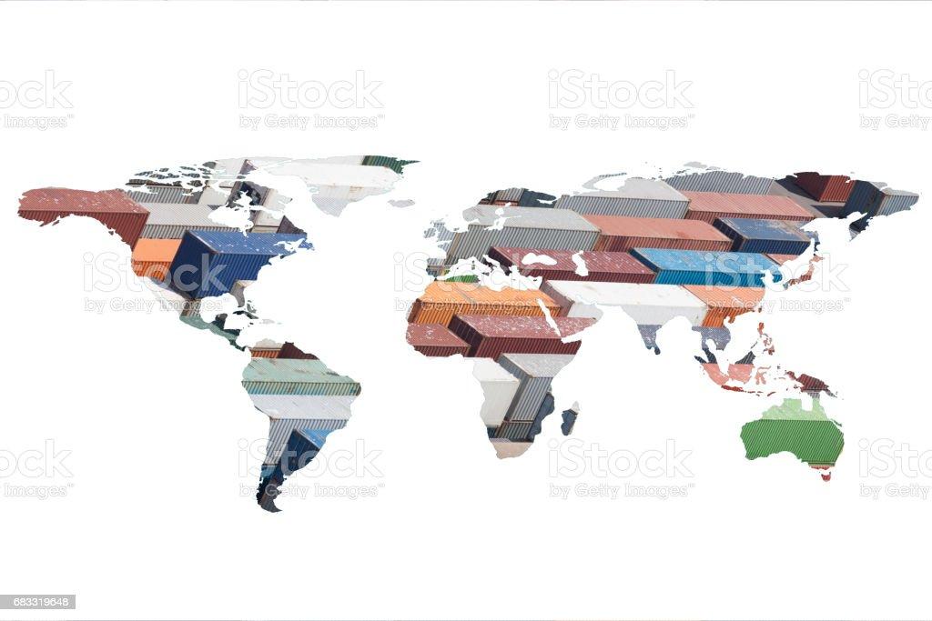 multiple exposure world map royalty free stockfoto