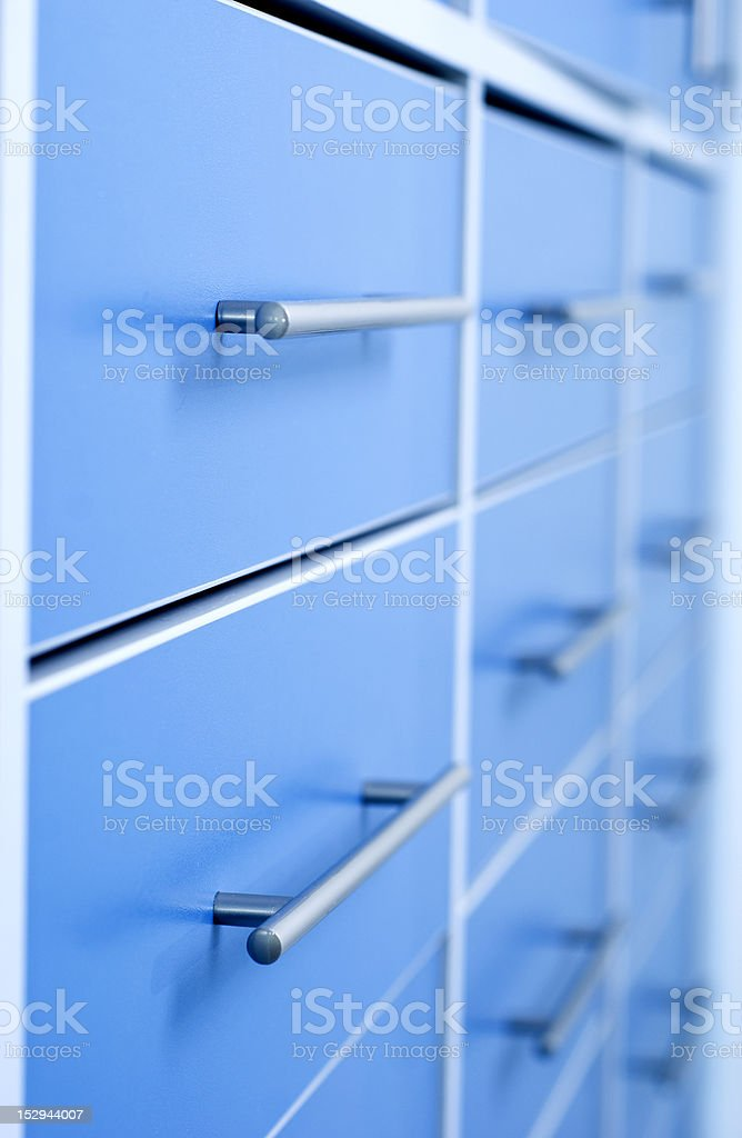 Multiple filing cabinet royalty-free stock photo