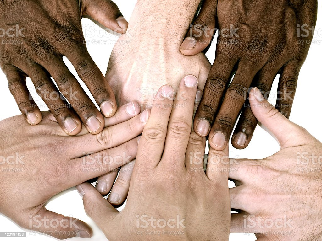Multiple hands royalty-free stock photo