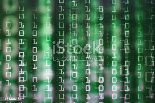 832169838istockphoto multiple layers of green matrix image 1184306184