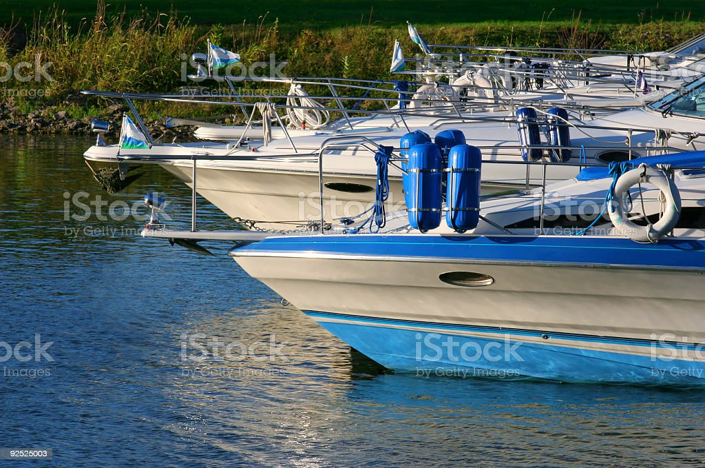 Multiple leisure boats royalty-free stock photo