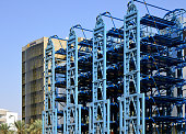 Riyadh, Saudi Arabia: multiple level stacked parking using mechanical lifts and Novotel Hotel (Accor)