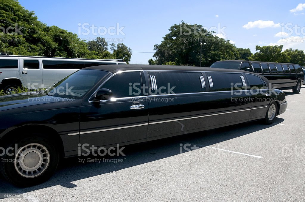 Multiple Limos stock photo