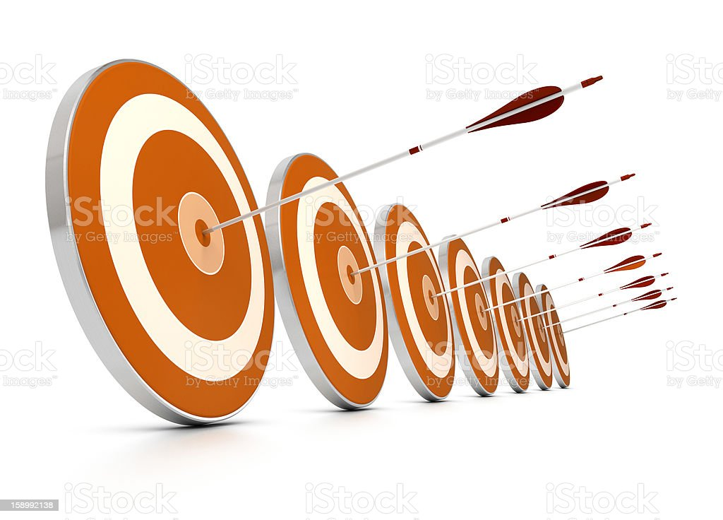 Multiple objectives stock photo