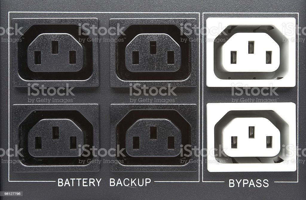 Multiple outlet royalty-free stock photo