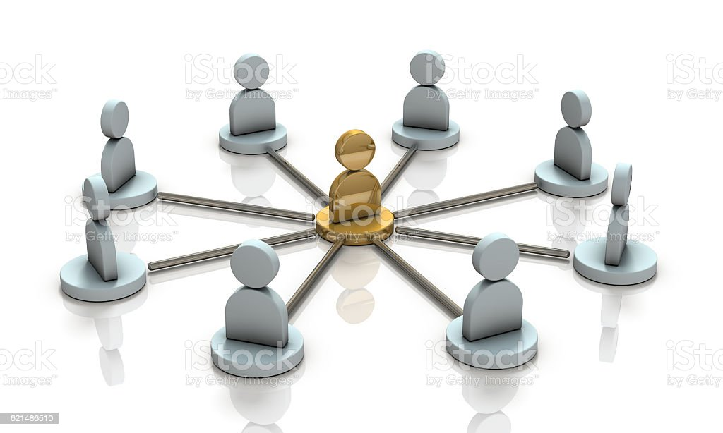 Multiple partners will cooperate with the leader. Lizenzfreies stock-foto