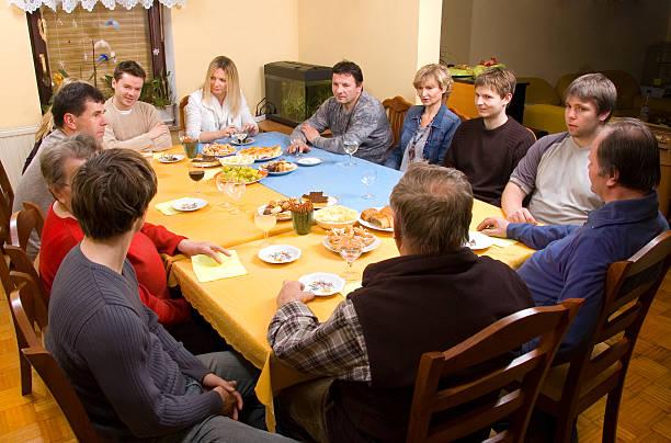家族の集まり ストックフォト