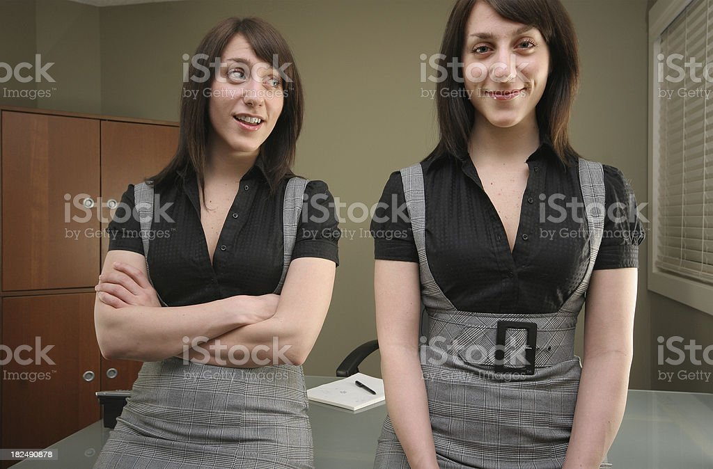 Multiple Personality Woman royalty-free stock photo