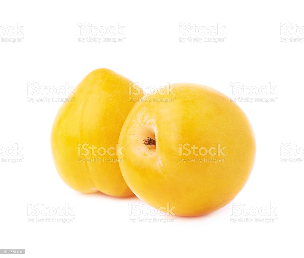 Multiple plums composition stock photo