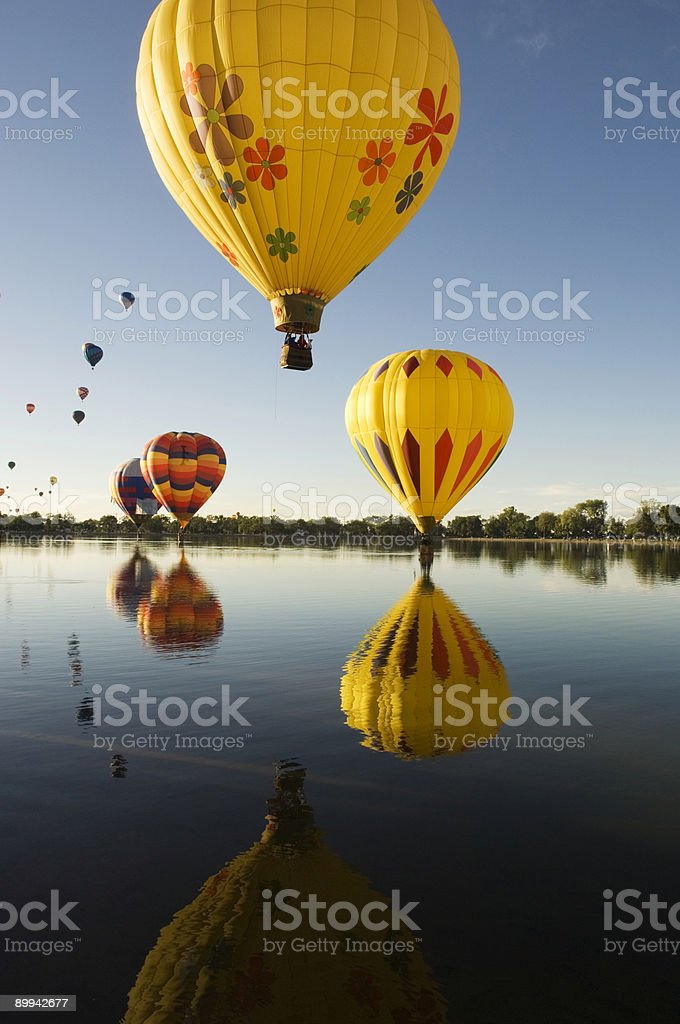 Multiple Reflected Balloons royalty-free stock photo