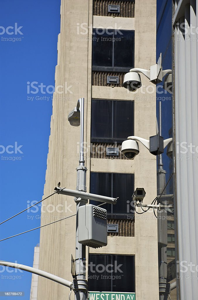 CCTV - Multiple security cameras in NYC royalty-free stock photo