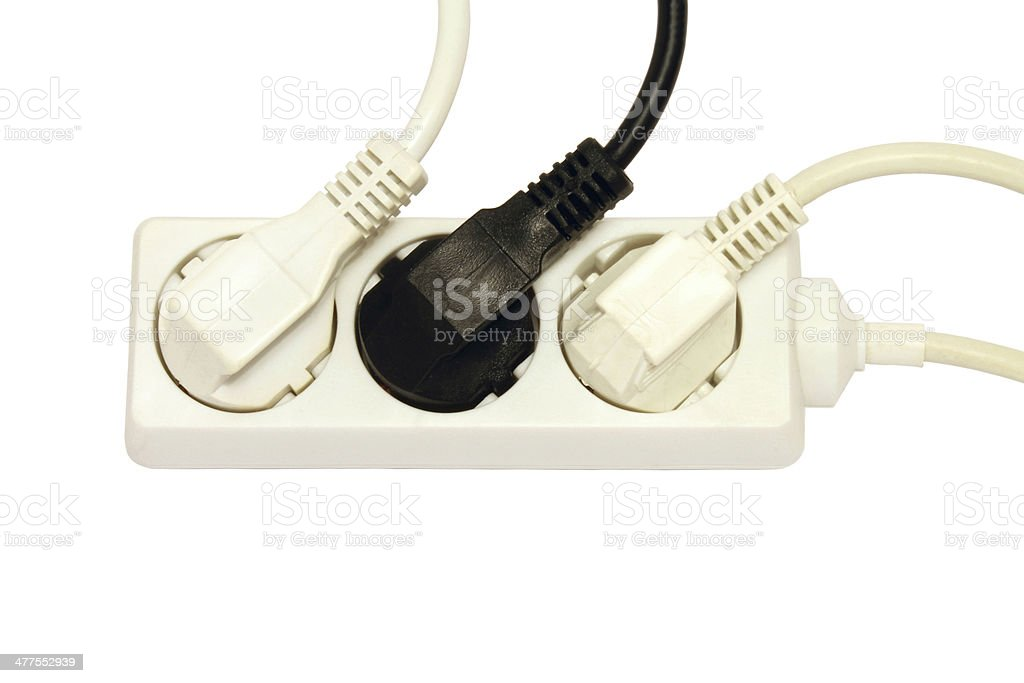 Multiple socket outlet stock photo