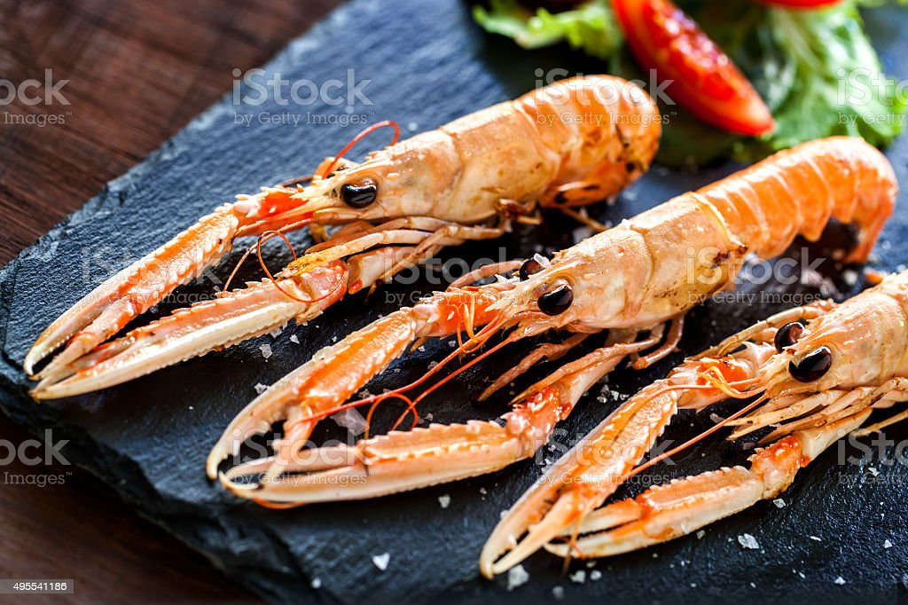 Multiple Spiny lobsters . stock photo