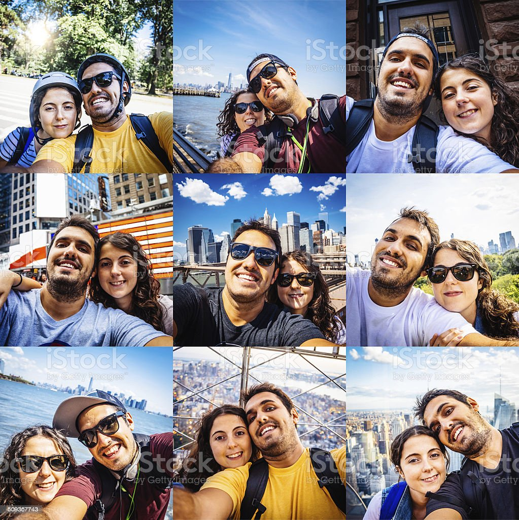 Multiple Vacation Selfie - High resolution royalty-free stock photo