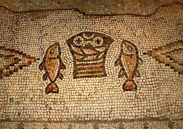 Multiplizieren Mosaik und Tabgha, Israel – Foto