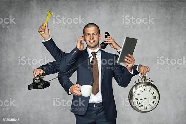 Mehrzweckgeschäftsmann Stockfoto und mehr Bilder von Multitasking
