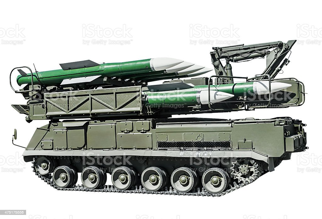 multipurpose highly mobile anti-aircraft missile system stock photo
