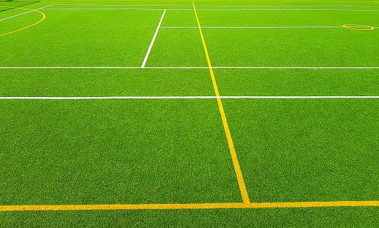 Artificial grass sports field.