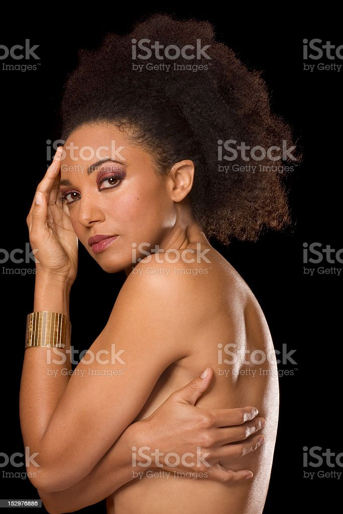Multiracial beauty, ethnic black and Spanish mix royalty-free stock photo