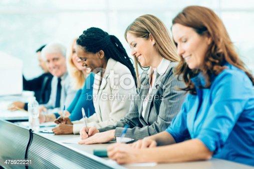 1087253494 istock photo Multiracial Business People in Seminar 475922221