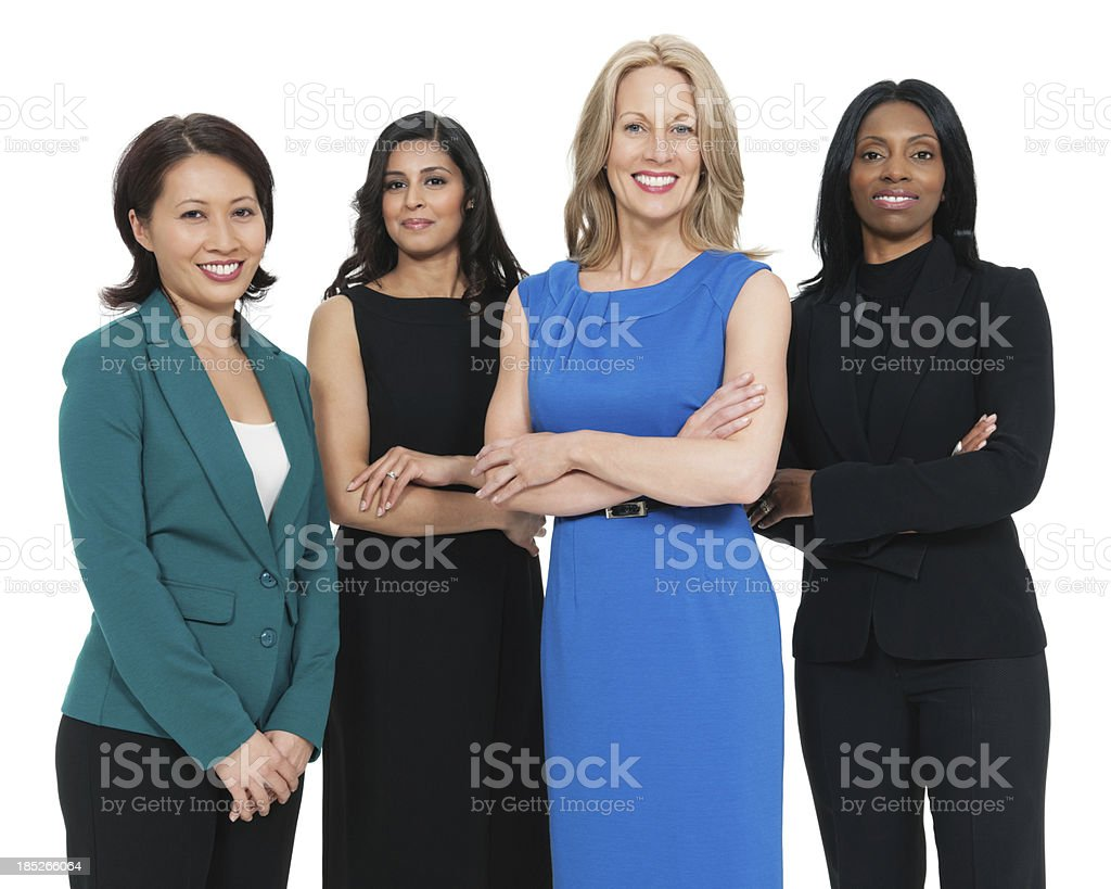 Multiracial Business Women Smiling royalty-free stock photo