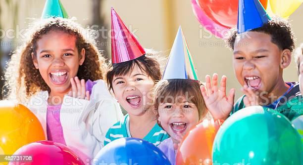 Multiracial children at a birthday party picture id482731708?b=1&k=6&m=482731708&s=612x612&h=okozzqpsfwbzw6f4j cjtonir5 h vxcqjvy1flssrm=